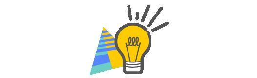 Lighted lightbulb icon