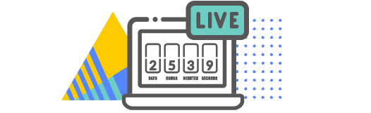 Live stream countdown clock on a computer