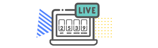 Live video countdown on computer