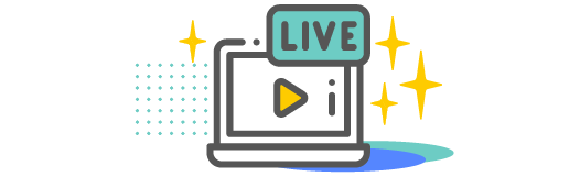Live video on a computer