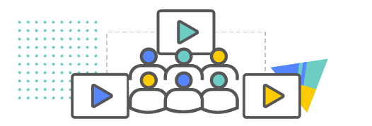 video icons with people icons