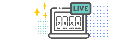 Live stream countdown