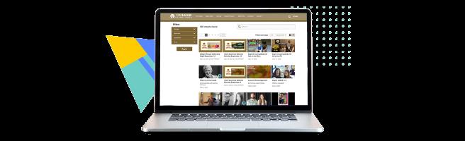Laptop showing Cochrane Alliance's platform
