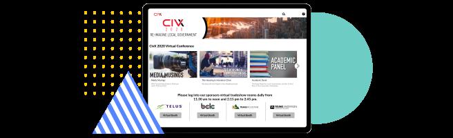 Laptop showing CIVX platform