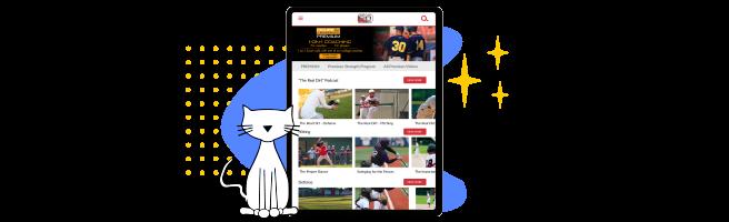 Laptop showing Figure It Out Baseball's platform
